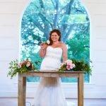 Temple Texas wedding venue bride in front of window