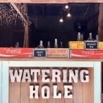 Wedding Venue watering hole with coke crates