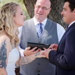 Wedding ceremony at Venue in Temple Texas