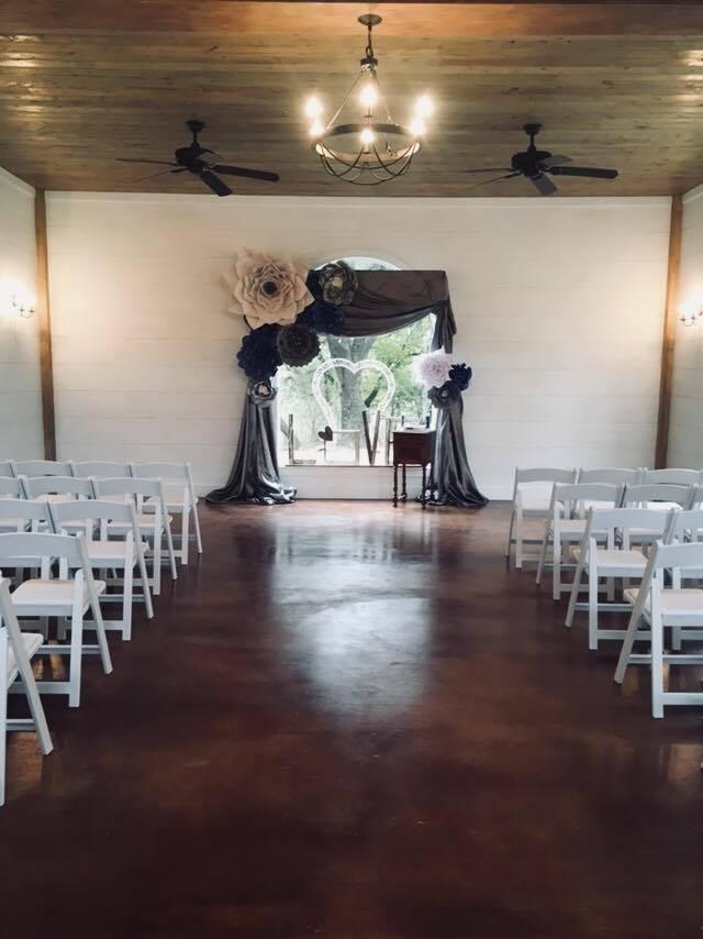 Paper flowers in Chapel