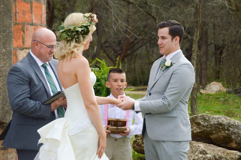 Ring Ceremony Temple Texas Wedding venue