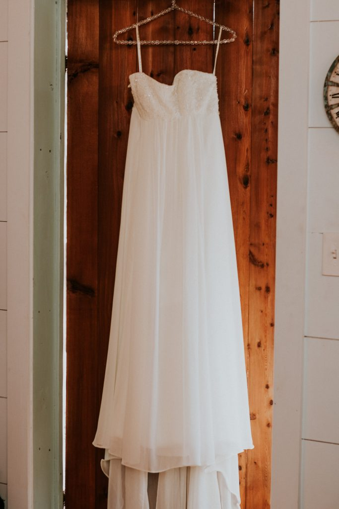 Dress on door Belton area wedding venue