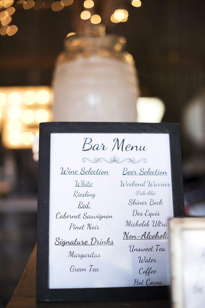 Bar Menu Silo and Oak Melody C Photography - Silo and Oak