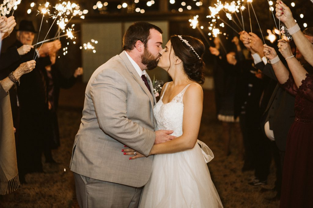 the kisses under sparklers