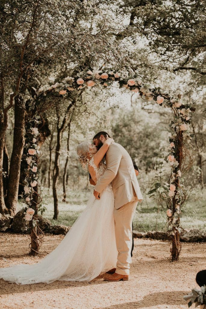 Texas Small Wedding in the fall