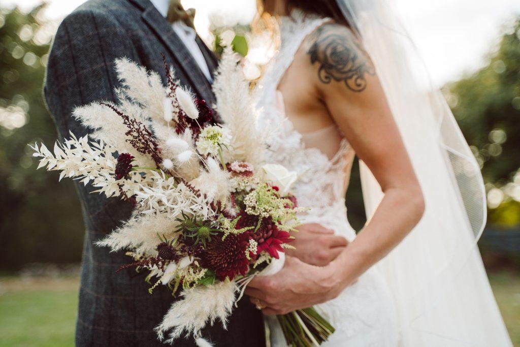 Silo and Oak Boho Bride and Bouquet