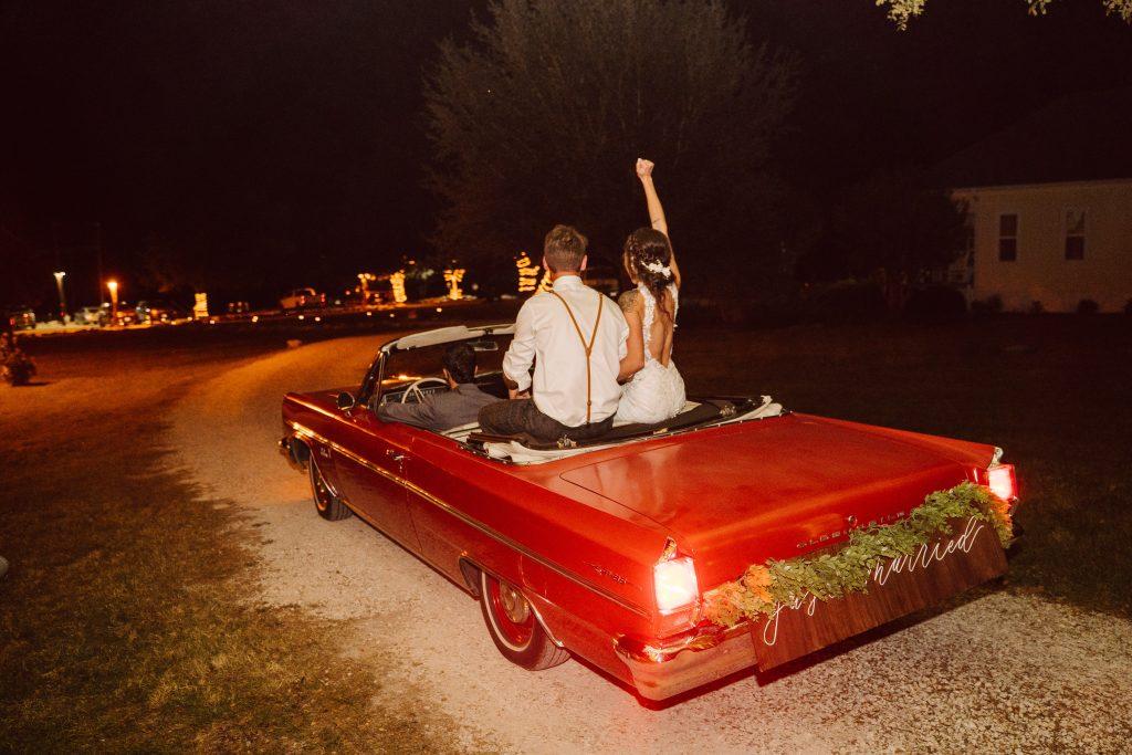 Silo and Oak Temple Texas Getaway Car