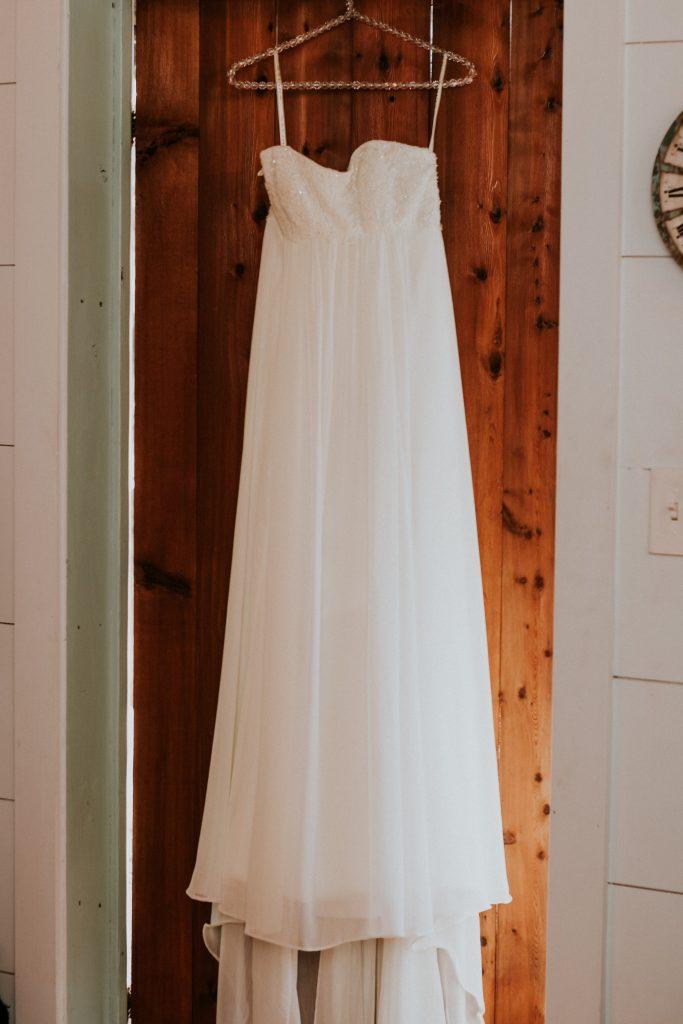 Dress on door Belton area wedding venue