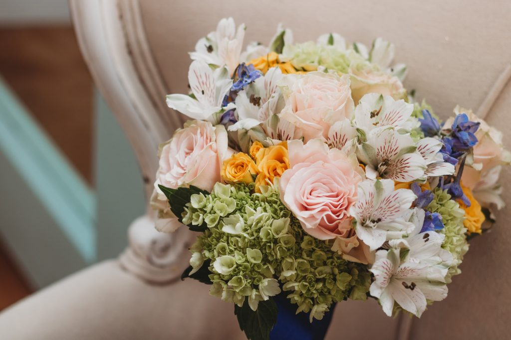 Bouquet at temple texas wedding venue