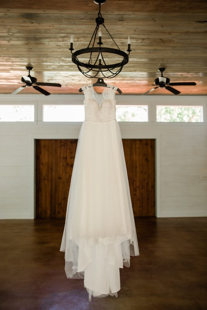 Bridal gown at Temple Texas Wedding Venue