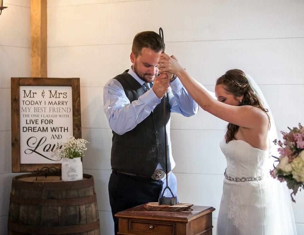 Temple Texas Wedding unity ceremony