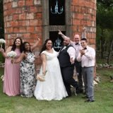 Bride and Groom and family Wedding Venue Temple texas