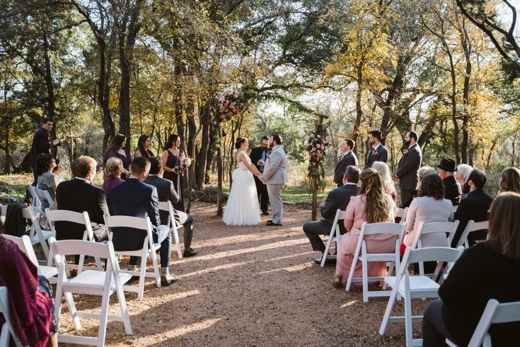 November ceremony in the woods