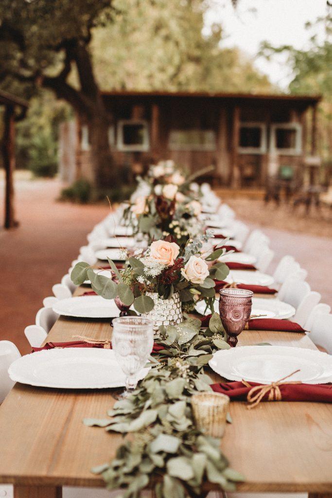 Gorgeous fall tablescape wedding temple texas