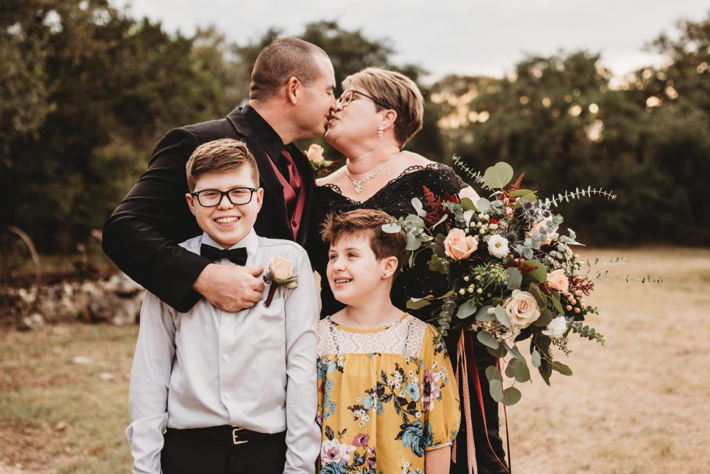 Temple texas wedding family photo
