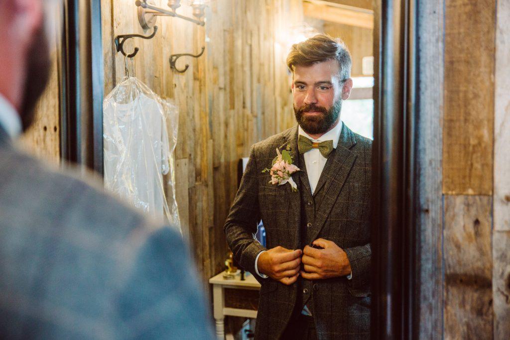 Groom getting ready Temple Texas Wedding Venue