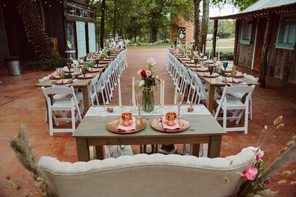 Gorgeous outdoor wedding reception Silo and Oak Wedding Venue