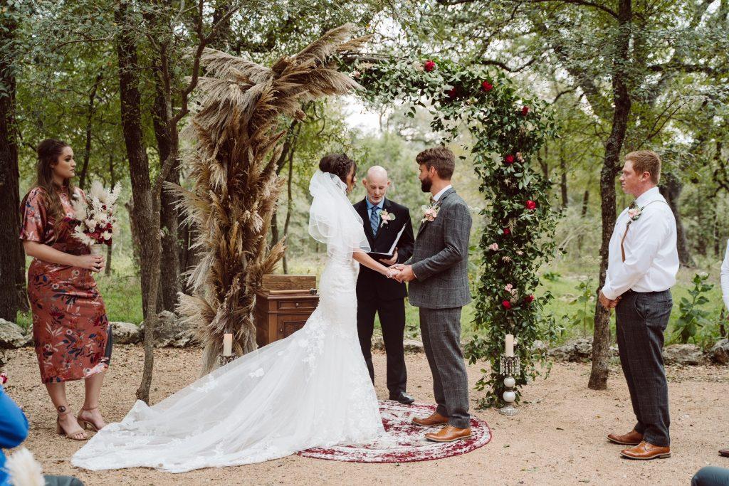 Boho Wedding Ceremony Temple Texas