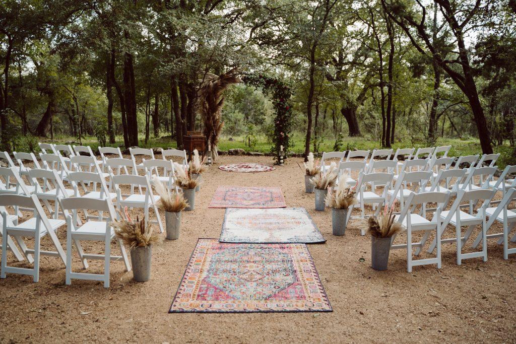 Boho Wedding Aisle Rugs Temple Texas