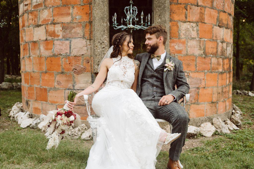 Silo and Oak Boho wedding Temple Texas