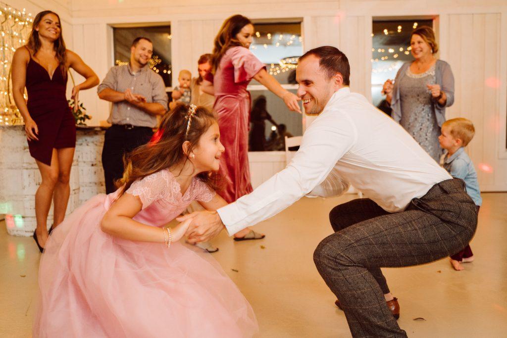 Silo and Oak Wedding Dancing